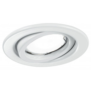 INC-MATRIX-LEDM1 BCO - Incasso Controsoffittatura Faretto Bianco Orientabile Tondo Metallo Led 6 watt Luce Calda