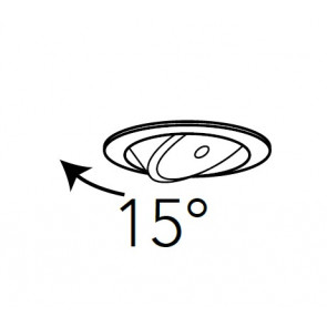 Faretto Orientabile fino a 15°
