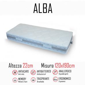 Materasso Alba 120x190 in gomma e...
