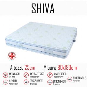 Materasso Shiva9 Zone 80x190 in gomma...