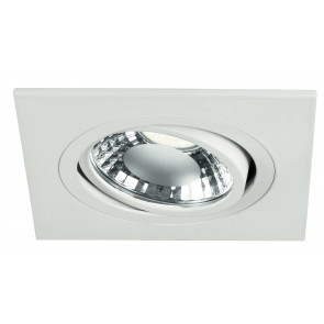 INC-ORIONE-Q6 BCO - Faretto a Incasso Bianco Quadrato Alluminio Orientabile Led 6 watt Luce Naturale
