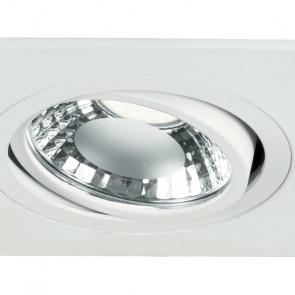 Struttura Orientabile in Alluminio Bianco con Diffusore in Vetro Trasparente e Opaco Linea Orione