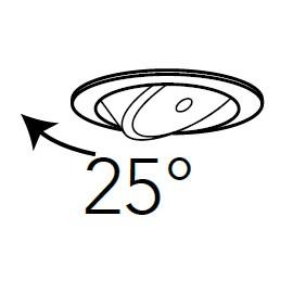 Faretto Orientabile fino a 25°