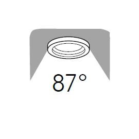Raggio d'illuminazione di 87°