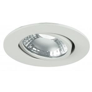 INC-ORIONE-R6 BCO - Faretto Incasso Alluminio Bianco Tondo Orientabile Led 6 watt Luce Naturale
