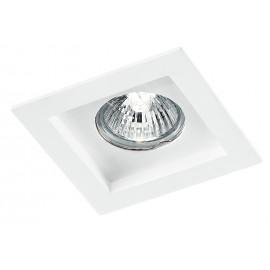 INC-PHANTOM-Q1 - Incasso Controsoffittatura Faretto Quadrato Gesso Bianco Verniciabile GU10