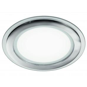 INC-PLASMA-18W - Faretto Tondo Alluminio Cromo Bordo Vetro Trasparente Incasso Cartongesso Led 18 watt Luce Naturale