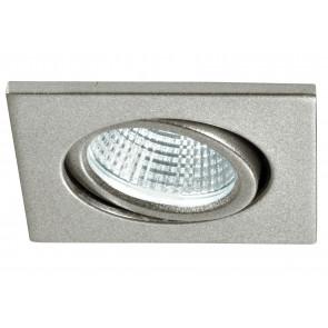 INC-POLARIS-Q3 - Incasso Soffitto Ribassato Faretto Orientabile Quadrato Alluminio Silver Led 3 watt 4000 kelvin