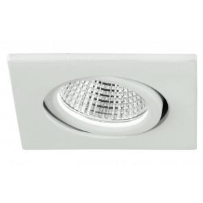 INC-POLARIS-Q3 BCO - Faretto Quadrato Orientabile Alluminio Bianco Incasso Led 3 watt Luce Naturale