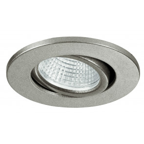 INC-POLARIS-R3 - Faretto a Incasso Orientabile Tondo Alluminio Silver Cartongesso Led 3 watt Luce Naturale