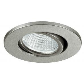 INC-POLARIS-R3 - Faretto a Incasso Orientabile Tondo Alluminio Silver Cartongesso Led 3 watt Luce Naturale