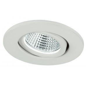 INC-POLARIS-R3 BCO - Faretto Incasso Alluminio Bianco Tondo Orientabile Led 3 watt Luce Naturale