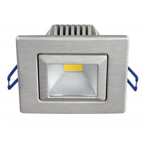 INC-POUND-5C NIK - Faretto Incasso Orientabile Alluminio Nikel Quadrato Led 5 watt Luce Calda