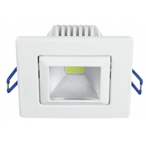 INC-POUND-5F BCO - Incasso Soffitto Ribassato Faretto Bianco Alluminio Orientabile Led 5 watt 5500 K