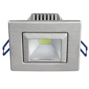 INC-POUND-5F NIK - Faretto Alluminio Nikel Orientabile Incasso Cartongesso Led 5 watt Luce Fredda