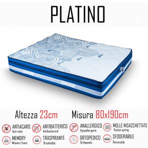 Matelas Platino 80x190 avec ressorts...