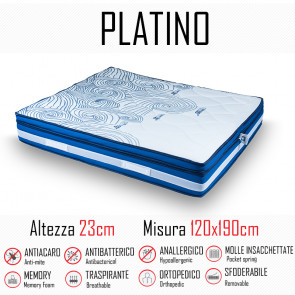 Matelas Platino 120x190 avec ressorts...