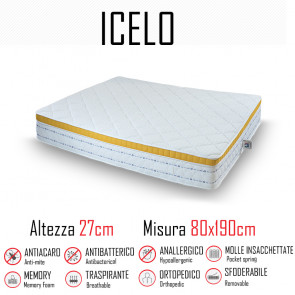 Materasso Icelo 80x190 a molle...