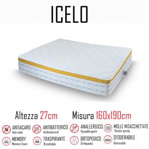 Materasso Icelo 160x190 a molle...