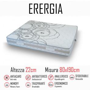 Materasso Energia 80x190 in gomma e...