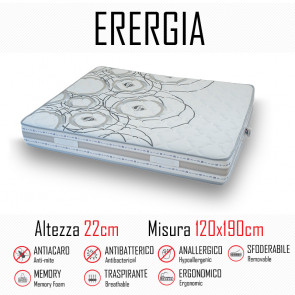 Matelas énergétique 120x190 en...