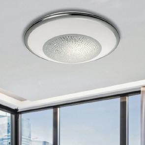 I-TIFFANY/PL60 - Plafoniera con luci led dalla linea essenziale e elegante e con cristalli 60 watt