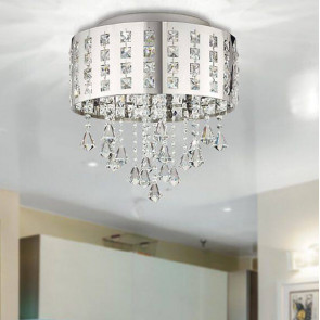 LED-INNUENDO / PL40 - Plafonnier Circulaire Pendentifs En Métal K9 Cristaux Lampe Led Moderne 24 watts Lumière Naturelle