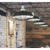 I-BAZAR-S3 - Sospensione Griglia Metallo Nero Alluminio Lampadario Rustico E27