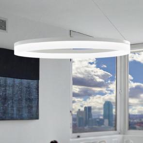 LED-SATURN-S80 - Anneau de lustre moderne blanc aluminium acrylique moderne Led 45 watts lumière naturelle