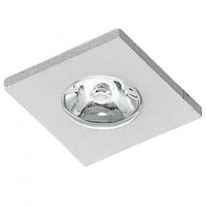 INC-SIRIO-Q1 - Incasso Controsoffittatura Faretto Quadrato Alluminio Nike Spazzolato Led 1 watt Luce Naturale