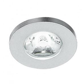 INC-SIRIO-R1 - Faretto Tondo Alluminio Spazzolato Incasso Controsoffitto Led 1 watt Luce Naturale
