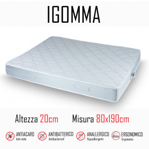 Materasso ignifugo gomma 80x190 in...