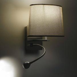 I-090111-5F - Applique Ovale Marrone E Una Luce Led 3 Watt 4500 Kelvin E14