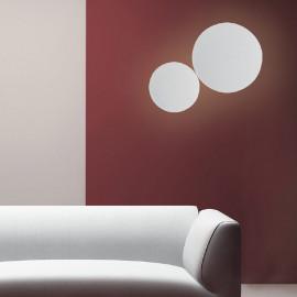 LED-ECLISSE/AP20 CR - Applique Metallo cromato Tonda Lampada Moderna Led 5,5 watt Luce Naturale