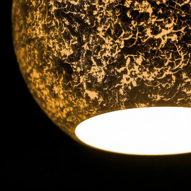 I-VANITY/S2 ORO - Lampdario Due Sospensioni Vetro Oro Moderno E27