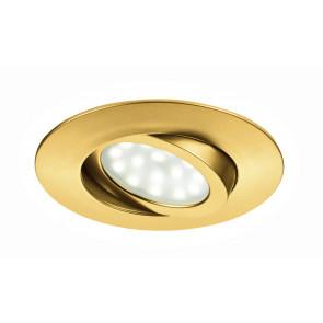 INC-ZENIT-5W ORO - Faretto a Incasso Oro Tondo Policarbonato Controsoffittatura Led 5 watt Luce Calda