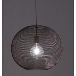 I-ESEDRA-S50 NER - Sospensione Nera Reta Sferica in Metallo Lampadario Moderno Interno E27