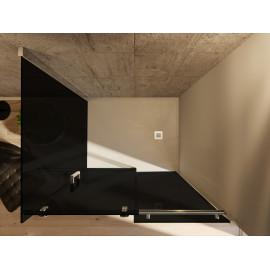 Euclide 2.0 Box doccia 8 mm cristallo Fumè nero 80x100 80x120 h195