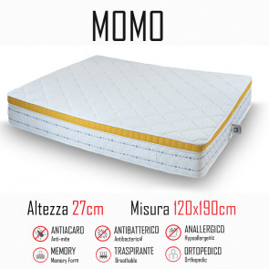 Materasso Momo 120x190 gomma e memory...