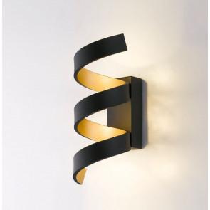 LED-HELIX-AP3 NER - Applique Nera Oro simil Nastro Alluminio Led 9 watt Luce Naturale