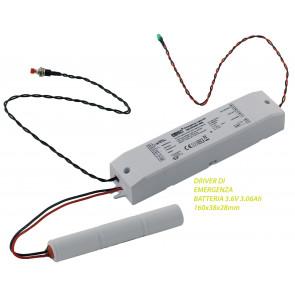 I-DRIVER-EMERGENCY Driver alimentatore di emergenza  6-60V 400-40 mA batteria 3,6V 3,0Ah Ni-Cd/Ni_MH