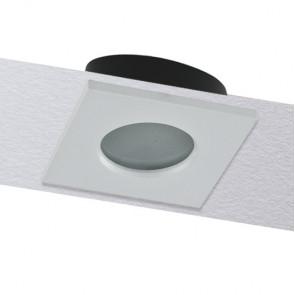 INC-VIPER-Q-BCO Struttura da incasso VIPER per lampada GU10 quadra fissa bianca IP65 82x82 mm