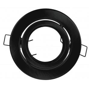 INC-REFLEX-SM1 NER Strutture da incasso REFLEX per lampade MR16 o GU10 colore nero tondo rientabile dm 10 cm