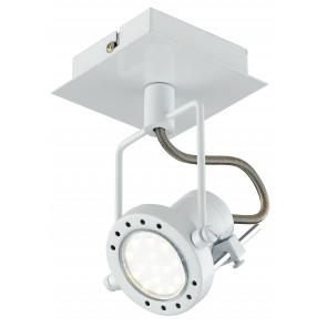 SPOT-TECHNO-1 BCO Faretti  lampade Spot in metallo TECHNO con finitura bianco satinato 1xGU10 6W LED orientabili