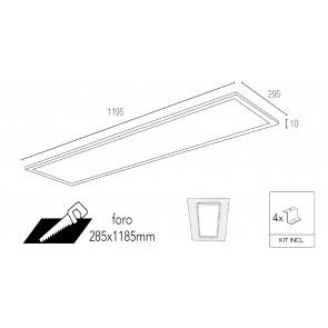 Panneau LED PANEL en aluminium blanc...