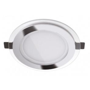 INC-SLIM/24WC BCO Lampada da incassso SLIM tonda per soffitto o mura bianca in alluminio pressofuso SMD 24w -3000K
