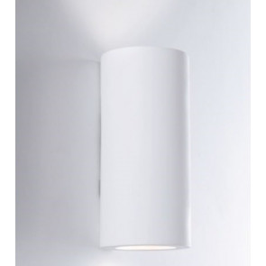 I-BANJIE-S-AP Applique BANJIE tondo bianco a parete in gesso cm 16h x 7,5 dm verniciabile  2xGU10 max 35W