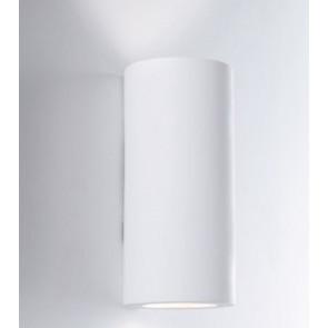 I-BANJIE-L-AP Applique BANJIE tondo bianco a parete in gesso cm 24h x 12 dm verniciabile  2xGU10 max 35W