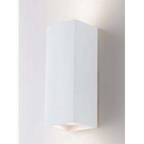 I-FOSTER-AP Applique FOSTER rettangolare bianco a parete in gesso cm 21h x 7,3 x 7,3 verniciabile  2xGU10 max 35W