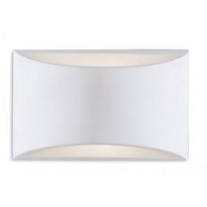 I-ASTRON-AP Applique ASTRON rettangolare bianco MODERNO a parete in gesso cm 11,5h x 19,9 verniciabile  2xG9 max 28W